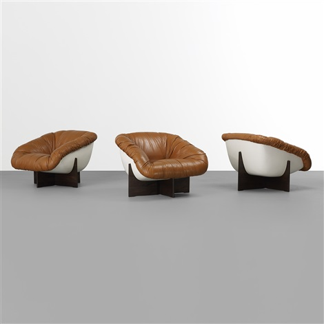 Lounge Chairs (set Of 3) By Percival Lafer