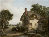 figure beside a cottage by thomas smythe