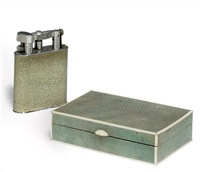 lighter (+ cigarette box, lrgr; 2 pieces) by alfred dunhill