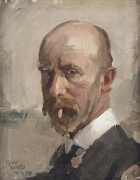 self portrait with sigaret by isaac israels
