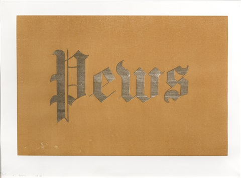 pews from news mews pews brews stews dues by ed ruscha