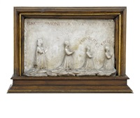 relief mit stifterfiguren der familie visconti by giovanni antonio amadeo