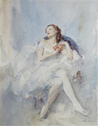 a seated ballerina by walter ernest webster