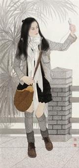 微博 (girl and microblog) by song yanjun