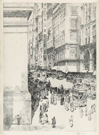 fifth avenue noon by childe hassam