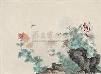 工笔花鸟 by zhu peijun