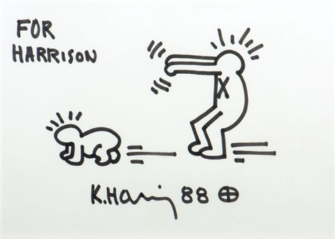 for harrison by keith haring