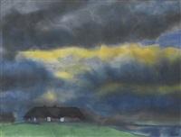 friesenhof, heimat (friesenhof, home) by emil nolde