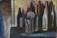 bottles and an opened can by michel roginsky