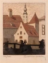 der steinschlag (+ 2 others; 3 works, various sizes) by karl reisenbichler