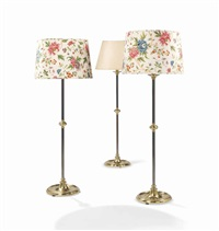 suite de trois lampadaires (set of 3) by renzo mongiardino