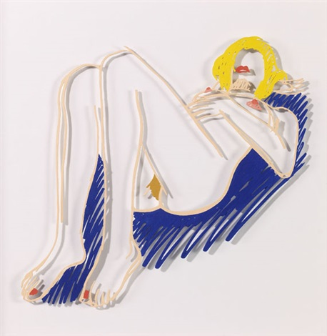 blonde on blanket edition by tom wesselmann