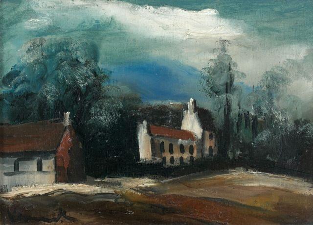 paysage aux maisons by maurice de vlaminck