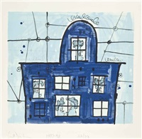 blue house by carroll dunham