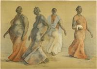 mujeres caminando i by francisco zúñiga