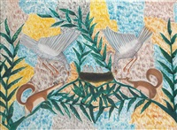 écureuils et colombes by mulongoy pili pili