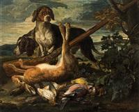 scene di caccia con cani by david de coninck