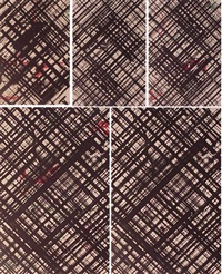 untitled #1-4 and vidal-trac (set of 5) by ed moses