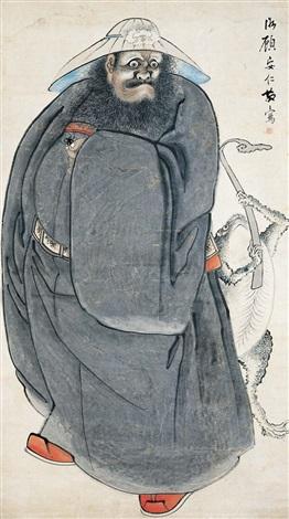 钟馗 figure by gu anren