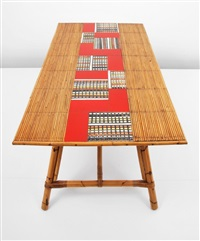 bamboo dining table by audoux-minet