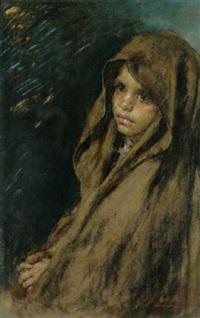junges mädchen mit braunem umhang by luigi amato
