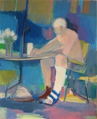 man seated at table by shirley aley campbell