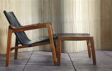 Genial Fireplace Chair And Ottoman By Tove And Edvard Kindt Larsen