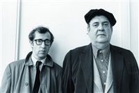 the front. mostel + allen by steve schapiro
