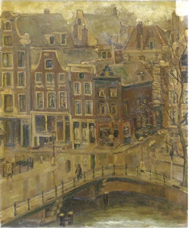a view of the singel amsterdam by josephine margaretha faber