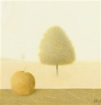 an apple and a tree by metten koornstra