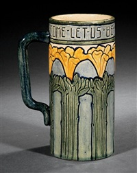 mug (decorated by harriet coulter joor) by newcomb college pottery