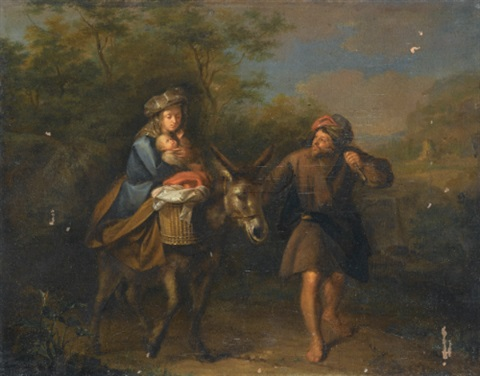 the flight into egypt by carel de moor
