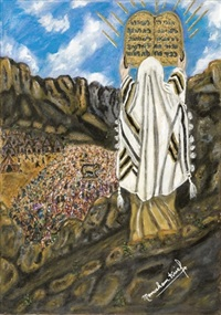 moses on mount sinai by menahem krief