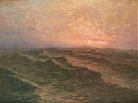 coucher de soleil en mer by albert isidore de vos