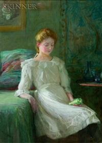 seated woman by lee lufkin kaula