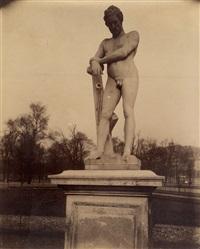 le soldat laboureur par lemaire (tuileries, paris) by eugène atget