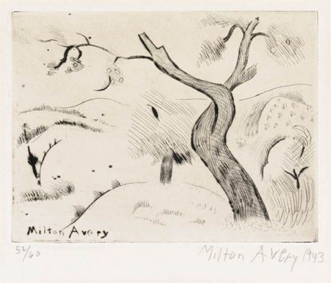 the twisted tree by milton avery
