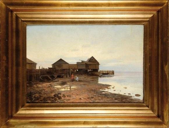 pécheurs sur la rive by mikhail potapov