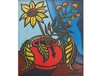 red vase by nicolaas maritz