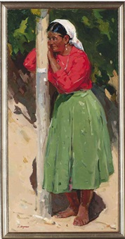 cossack woman by vitali aleksandrovich markin