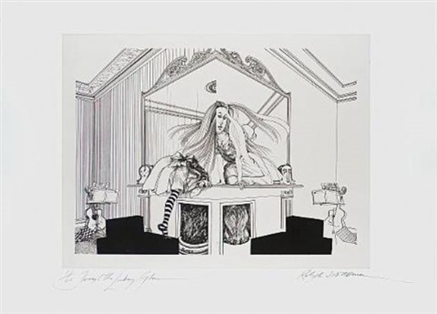 lewis carrols through the looking glass amp what alice found there set of 4 wtitle amp text by ralph idris steadman