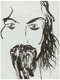 bearded man by david hockney