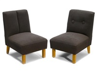 side chairs (pair) by roy mcmakin