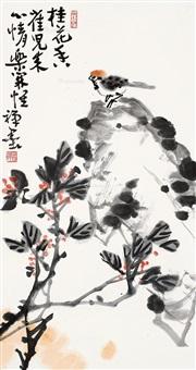 花鸟 镜片 纸本 by li kuchan