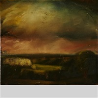 after gustave courbet, the loire valley in thunderstorm 1849, study ii by david bierk