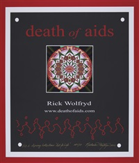death of aids, art for life (portfolio of 50) by richard wolfryd