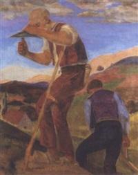 labourers in the fields by frantisek bilek
