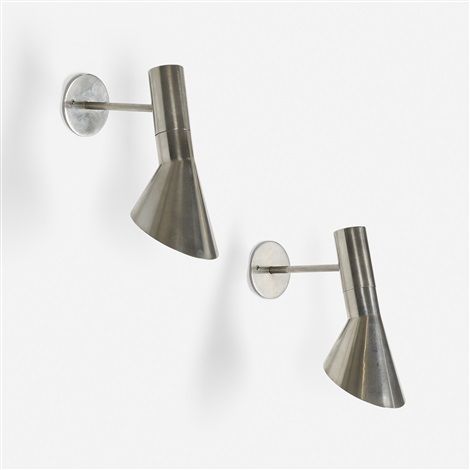 visor wall lamps pair by arne jacobsen