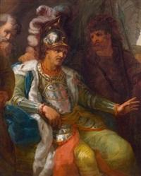 mythologische szene (herakles?) by giuseppe cades
