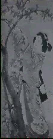 bildnis einer geisha welche sakura bluten pfluckt by baigetsu